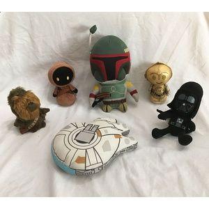 STAR WARS Plush Lot, Vader Millenium Falcon Chewie